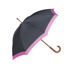 甲州織 長傘 ブラック×ピンク